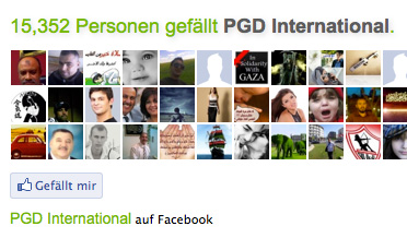 Die Facebook-Microsite der Paul Gerhard Diakonie International